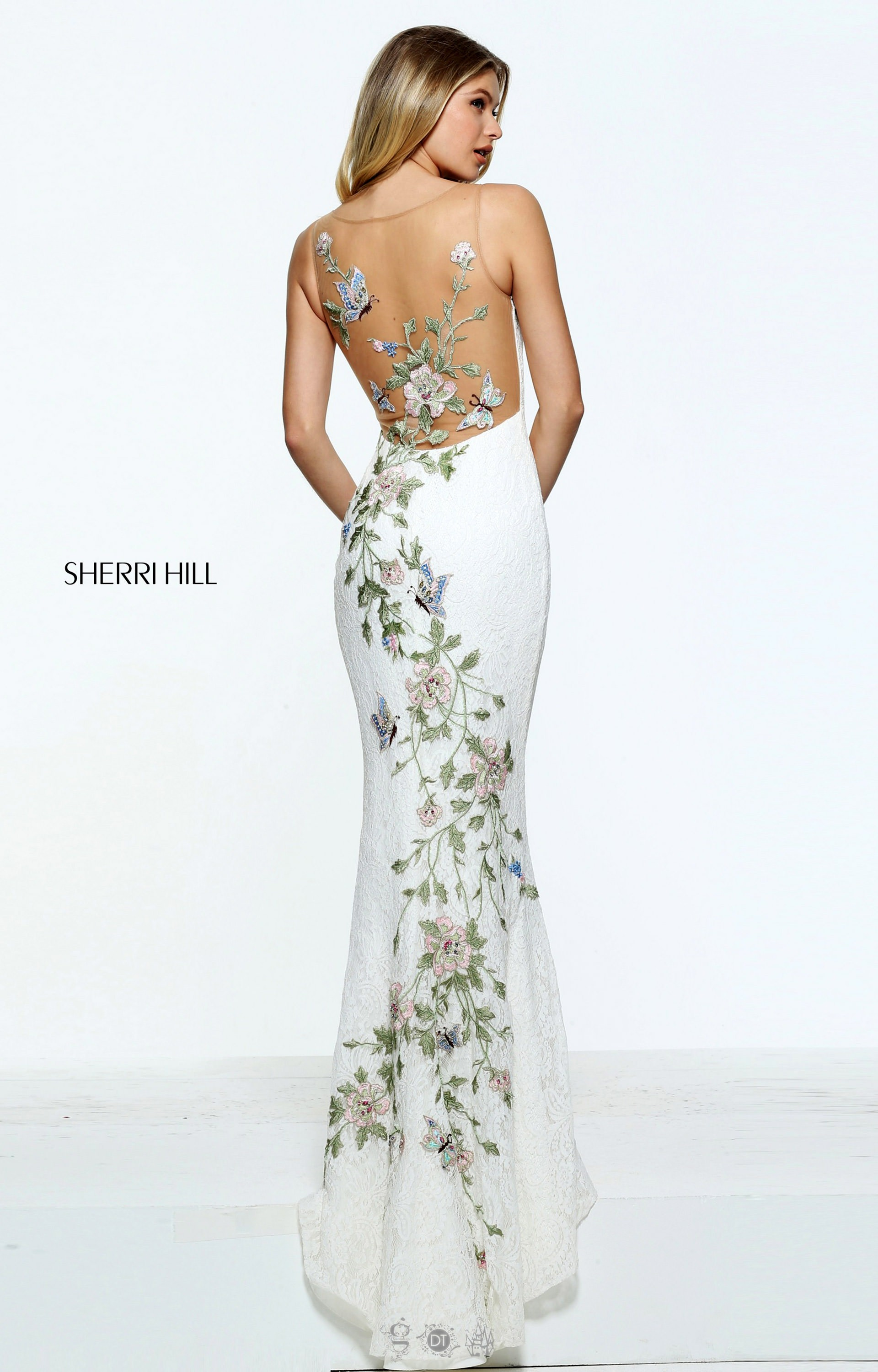 Sherri Hill 51026 Lace And Floral And Butterflies Oh My