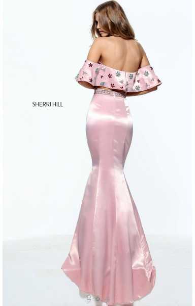 Sherri Hill 51054 - 2 Piece Mermaid with Beaded Ruffle Top and ...