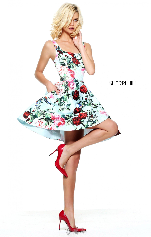 Sherri Hill 51063 Short And Flirty Rose Print Cocktail