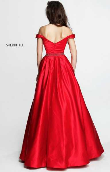 Sherri Hill 51124 Has Straps and Off The Shoulder picture 1