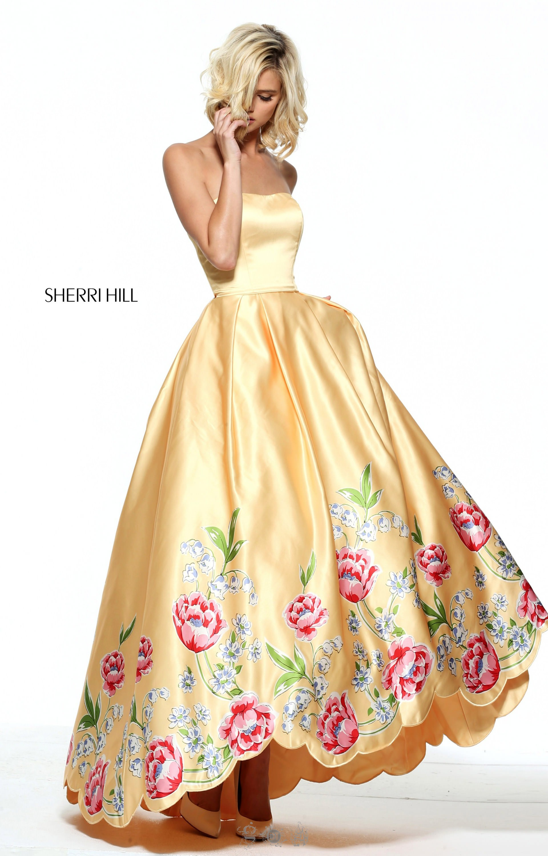 Sherri Hill 51139 Strapless Tea Length Ballgown With