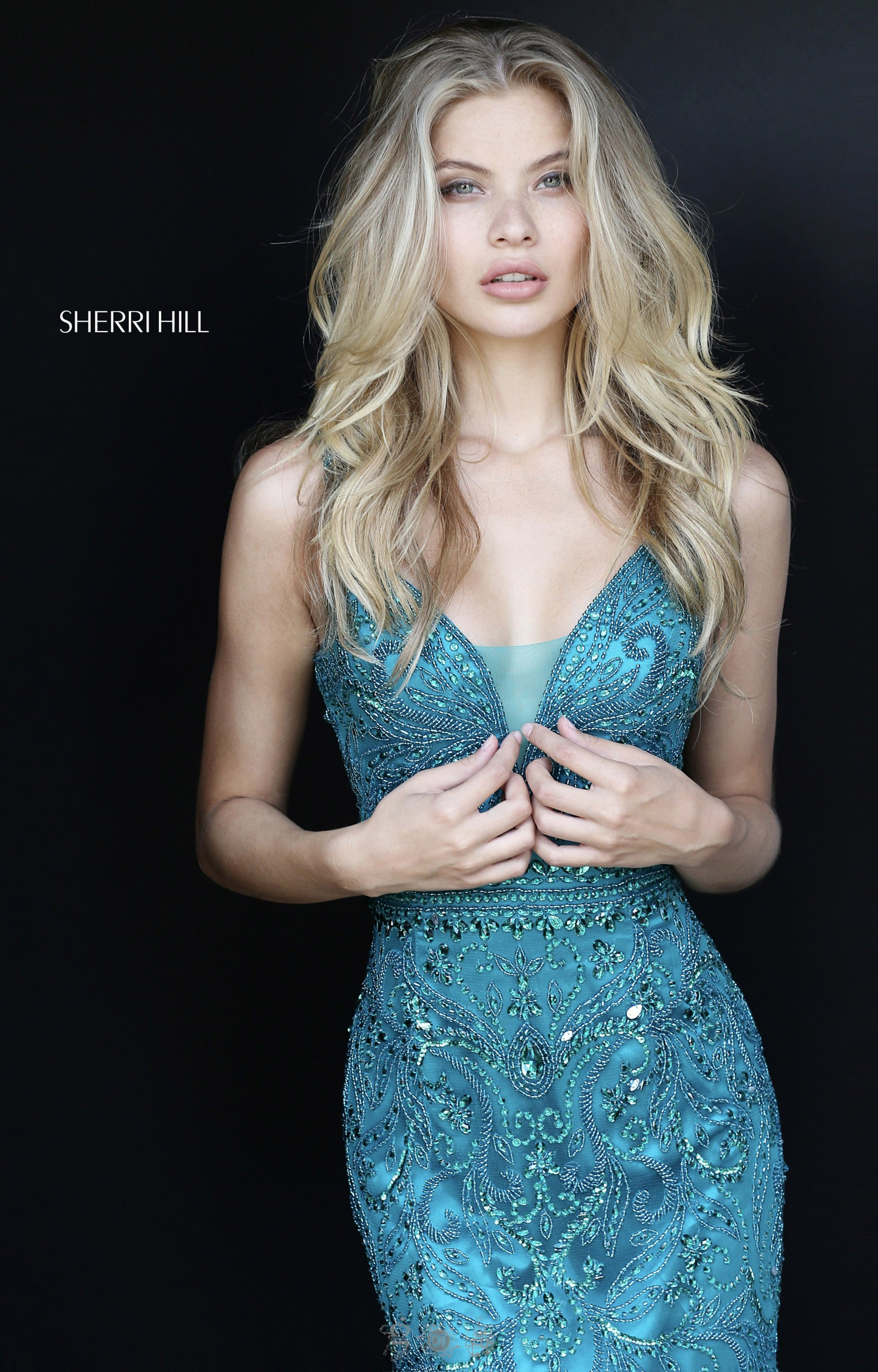 Sherri Hill 51147 - Deep V Neckline with Fitted Beaded