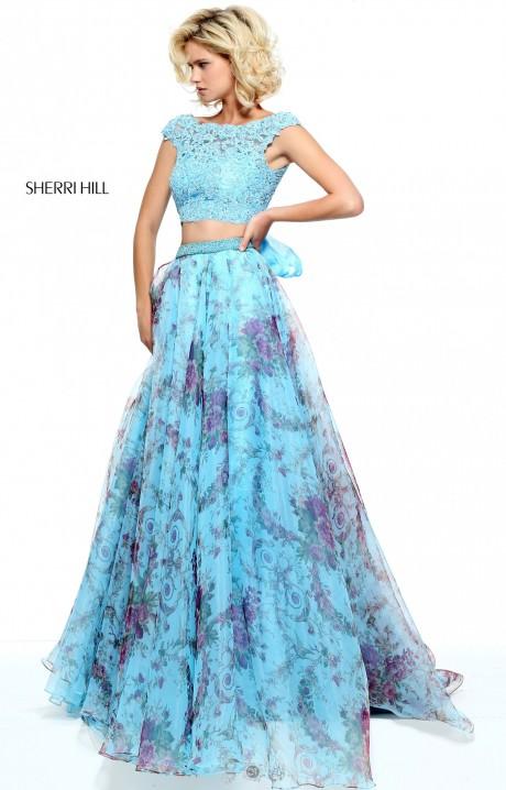 Sherri Hill 51176 Lace Two Piece Sherri Hill Prom Dress