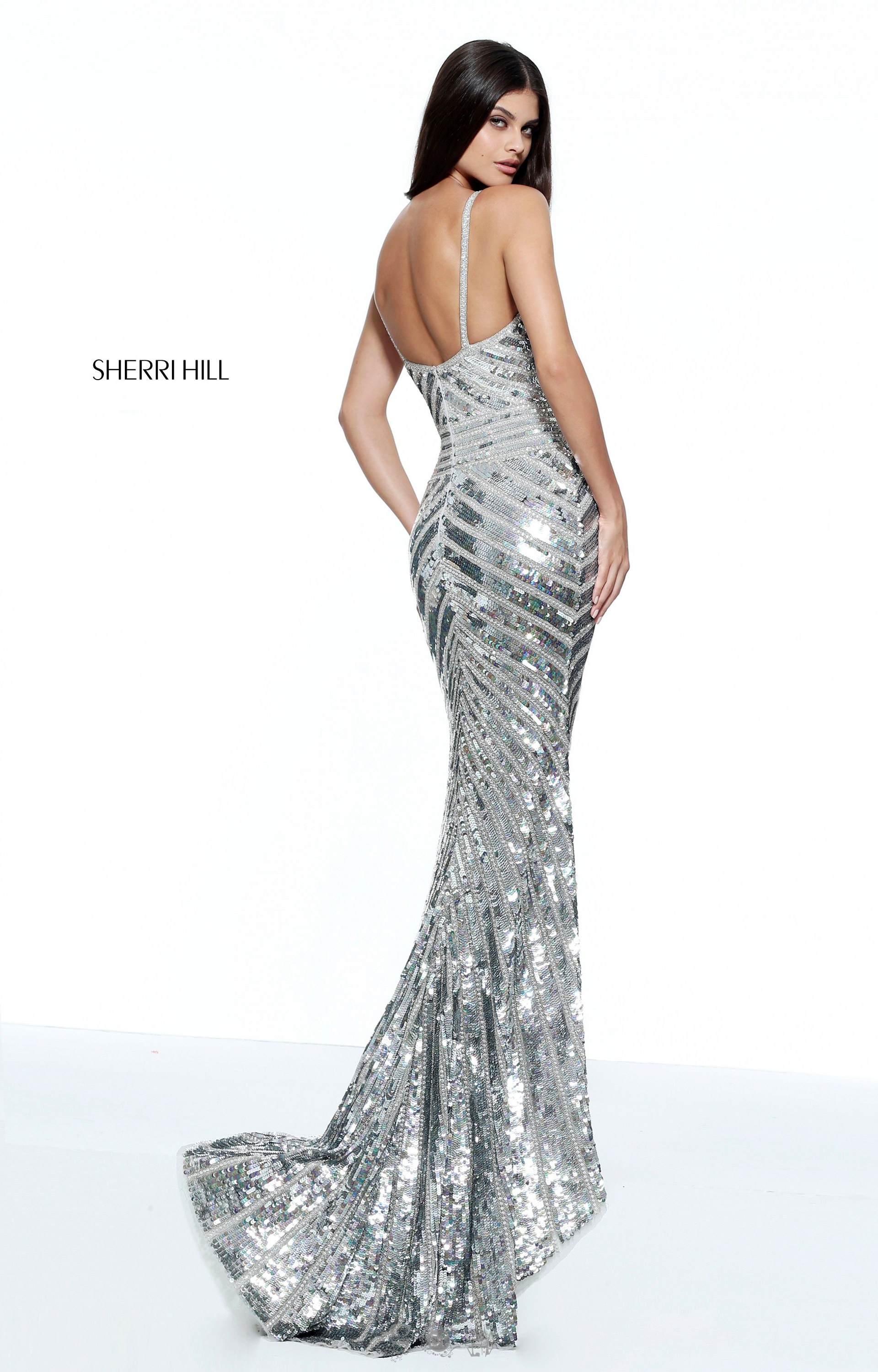 Sherri Hill 51206 Fitted Fully Sequined Gown With