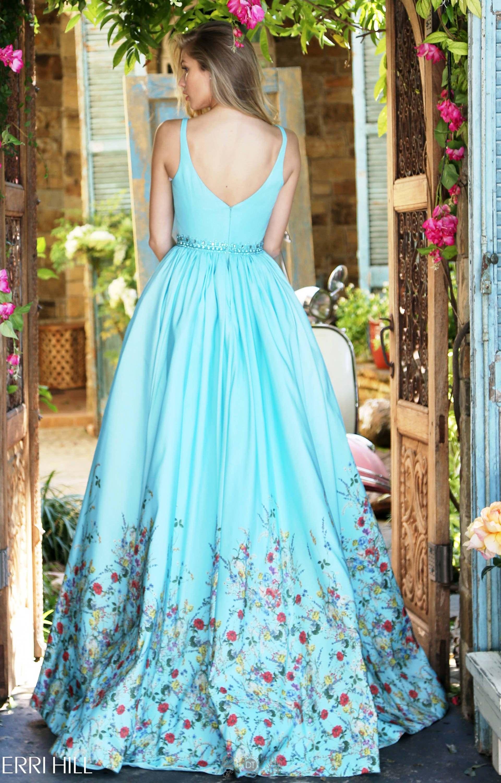 Sherri Hill 51232 - Floral Garden Print A line Ballgown Prom Dress