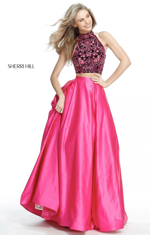 Sherri Hill 51381 - 2 Piece Satin A-line Prom Dress