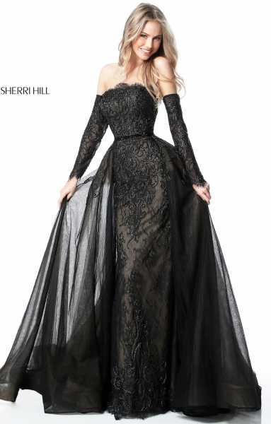 Sherri Hill 51384 Off The Shoulder picture 1