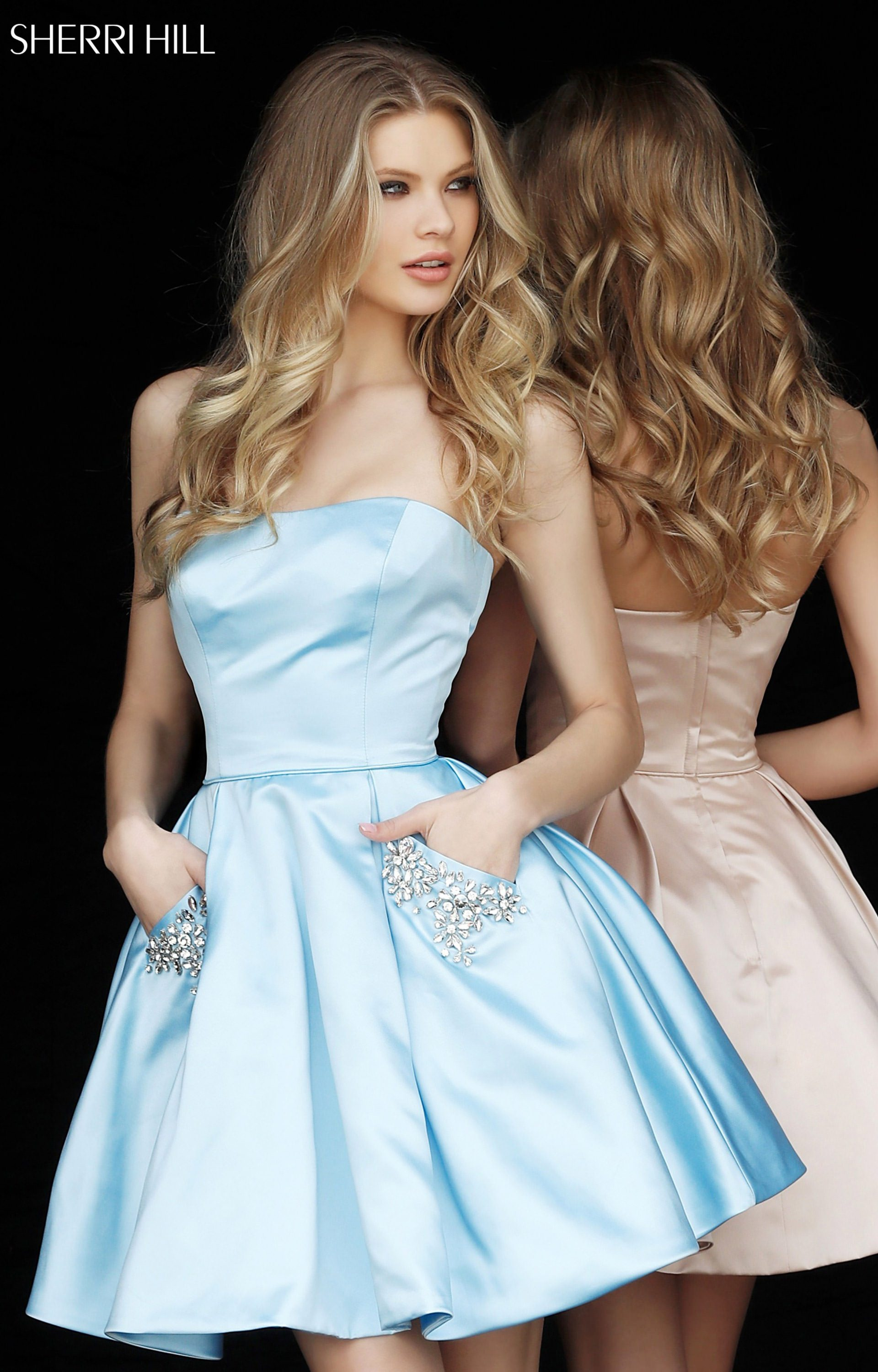 Sherri Hill 51390 Short Ball Gown Dress With Beaded