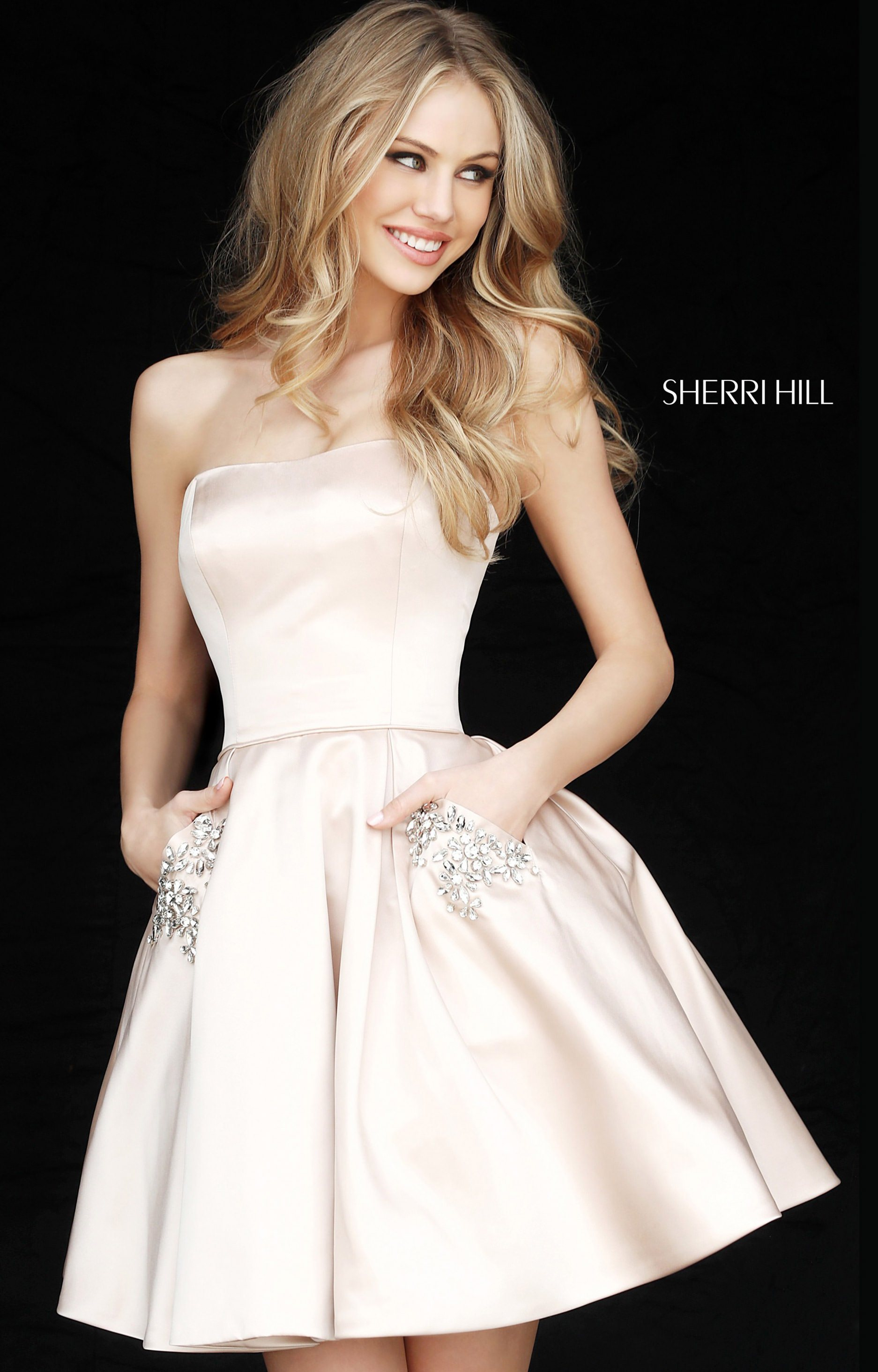 Sherri Hill 51390 - Short Ball Gown Dress with Beaded Pockets Prom Dress