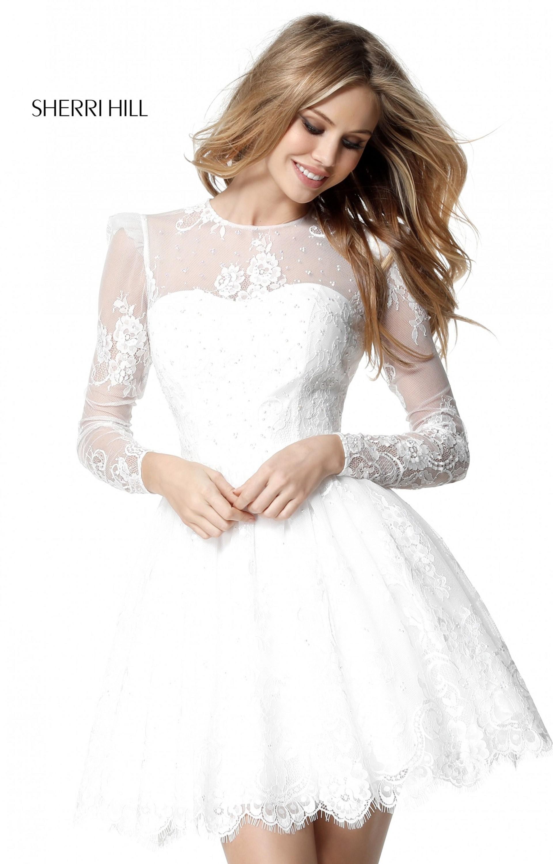 9028c006ddb4 Sherri Hill 51417 - Short A-line Lace