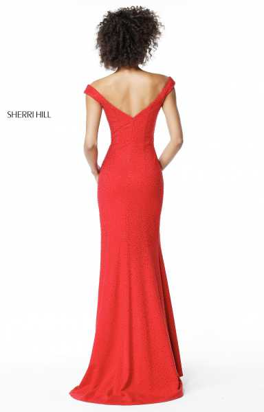 Sherri Hill 51434 Has Straps and Off The Shoulder picture 1