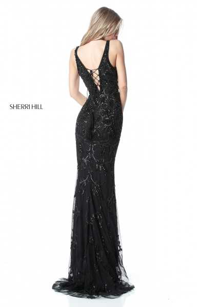Sherri Hill 51473 Has Straps and V-Shape picture 1
