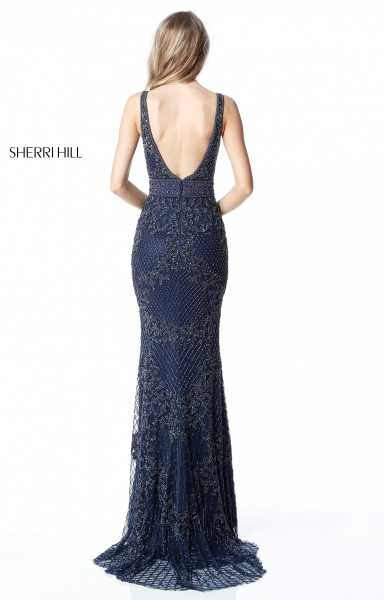 Sherri Hill 51475 Has Straps and V-Shape picture 1