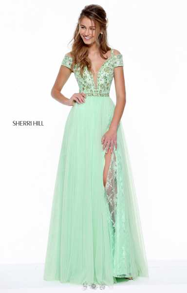 Sherri Hill 50874 Off The Shoulder and Has Straps picture 1