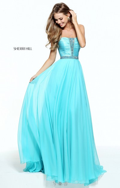Strapless Sweetheart with Beading and Chiffon