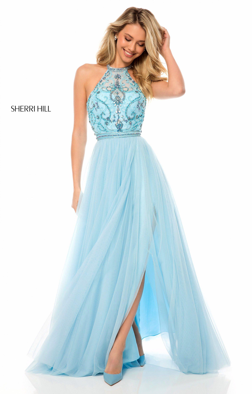 Sherri Hill 51604 - Long A-Line Tulle Prom Dress