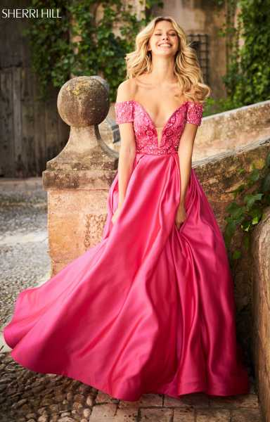 Sherri Hill 51611 Off The Shoulder and Sweetheart picture 1
