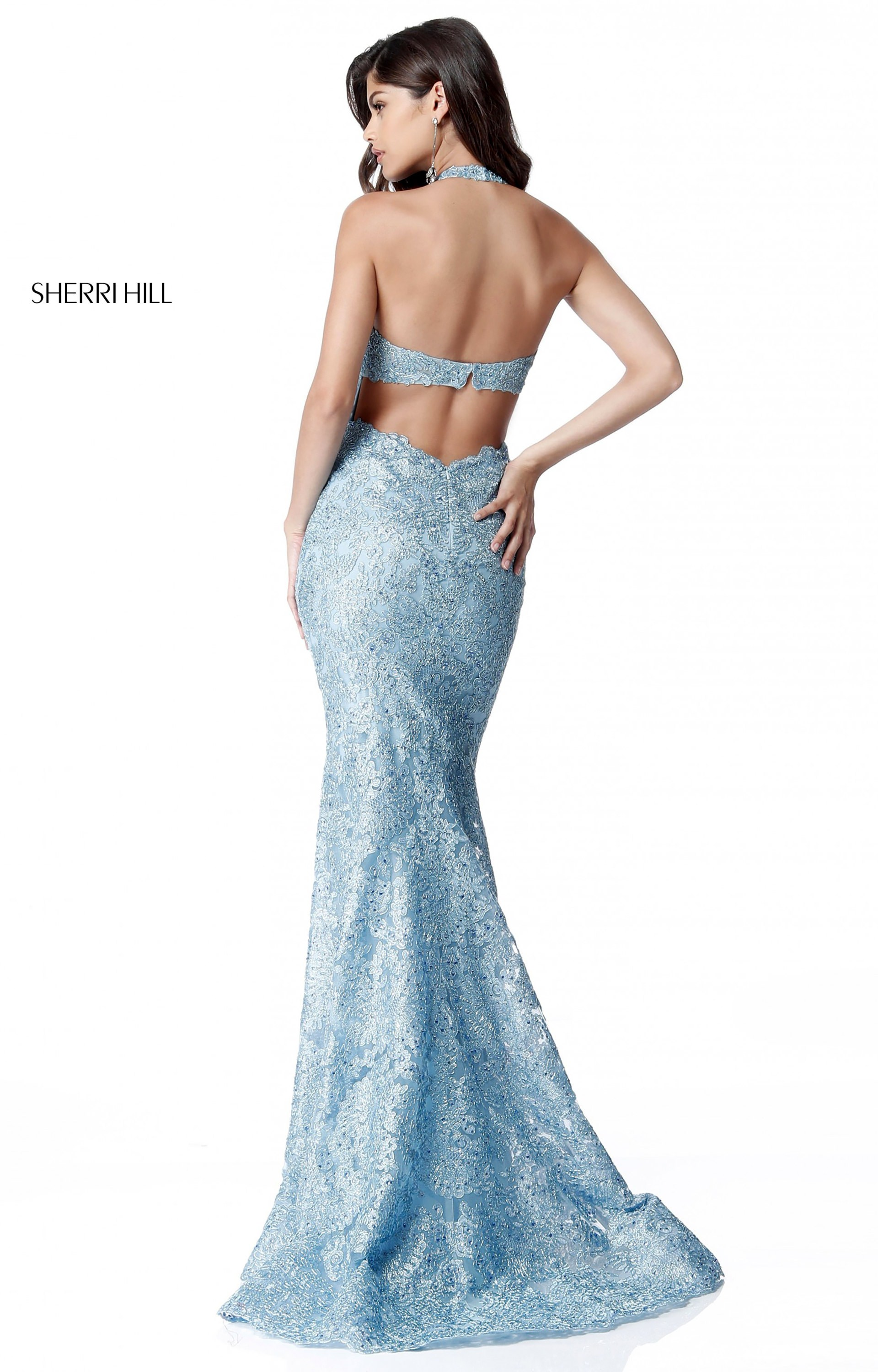 8a301814fdb8 Sherri Hill 51616 - Long Fitted Lace Halter