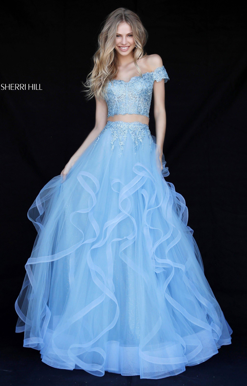 Sherri Hill 51617 Off The Shoulder Layered Skirt 2 Piece