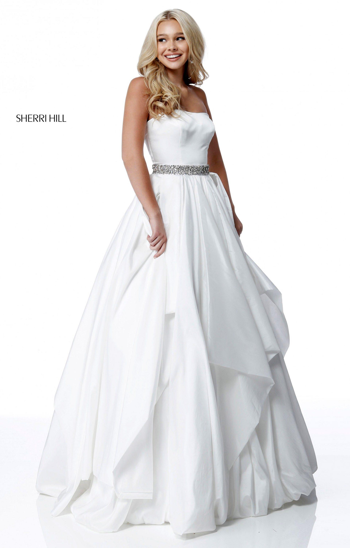 Sherri Hill 51633 Strapless Taffeta Ball Gown Prom Dress