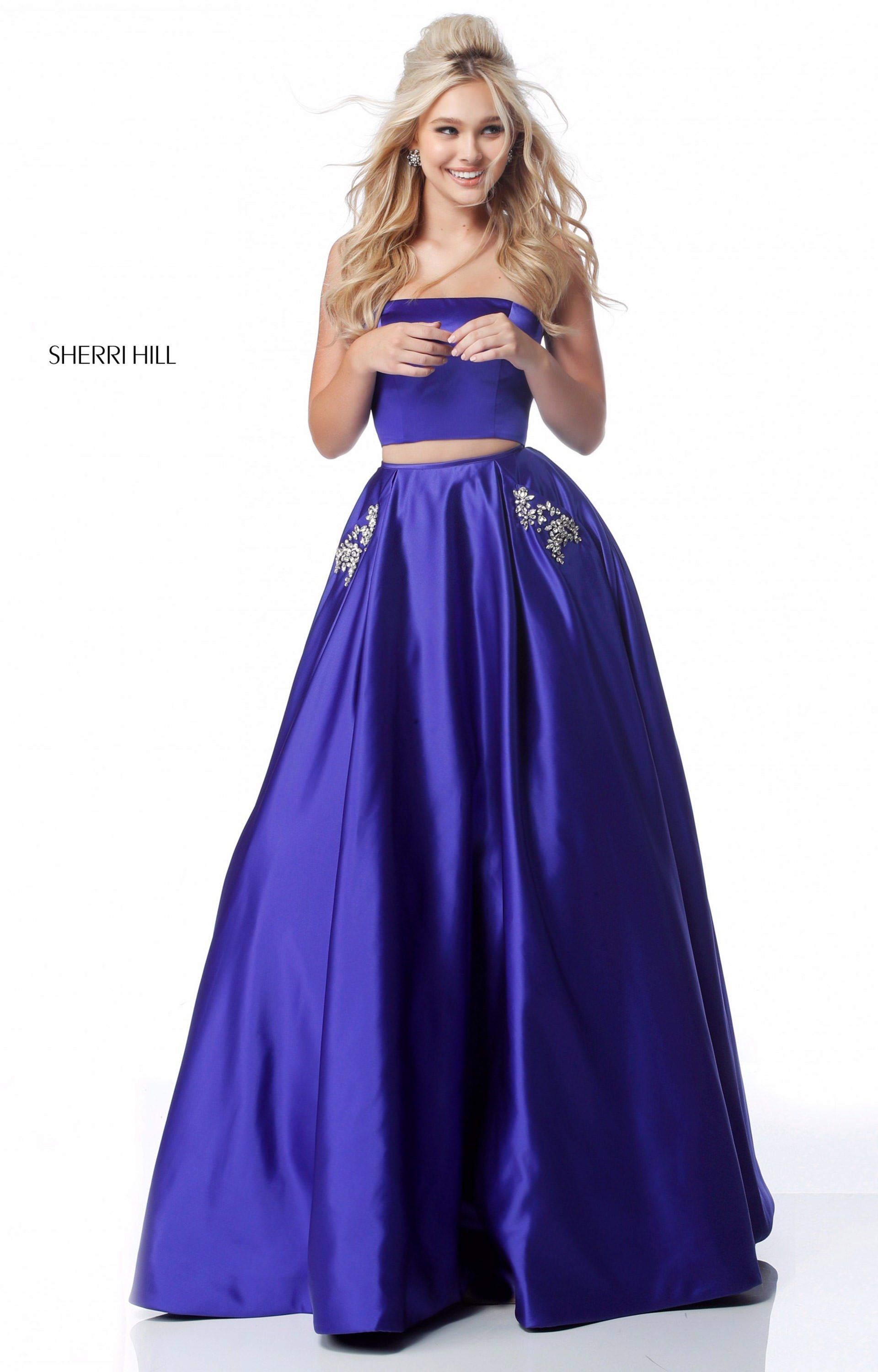 Sherri Hill 51649 - Strapless 2 Piece Ball Gown Prom Dress