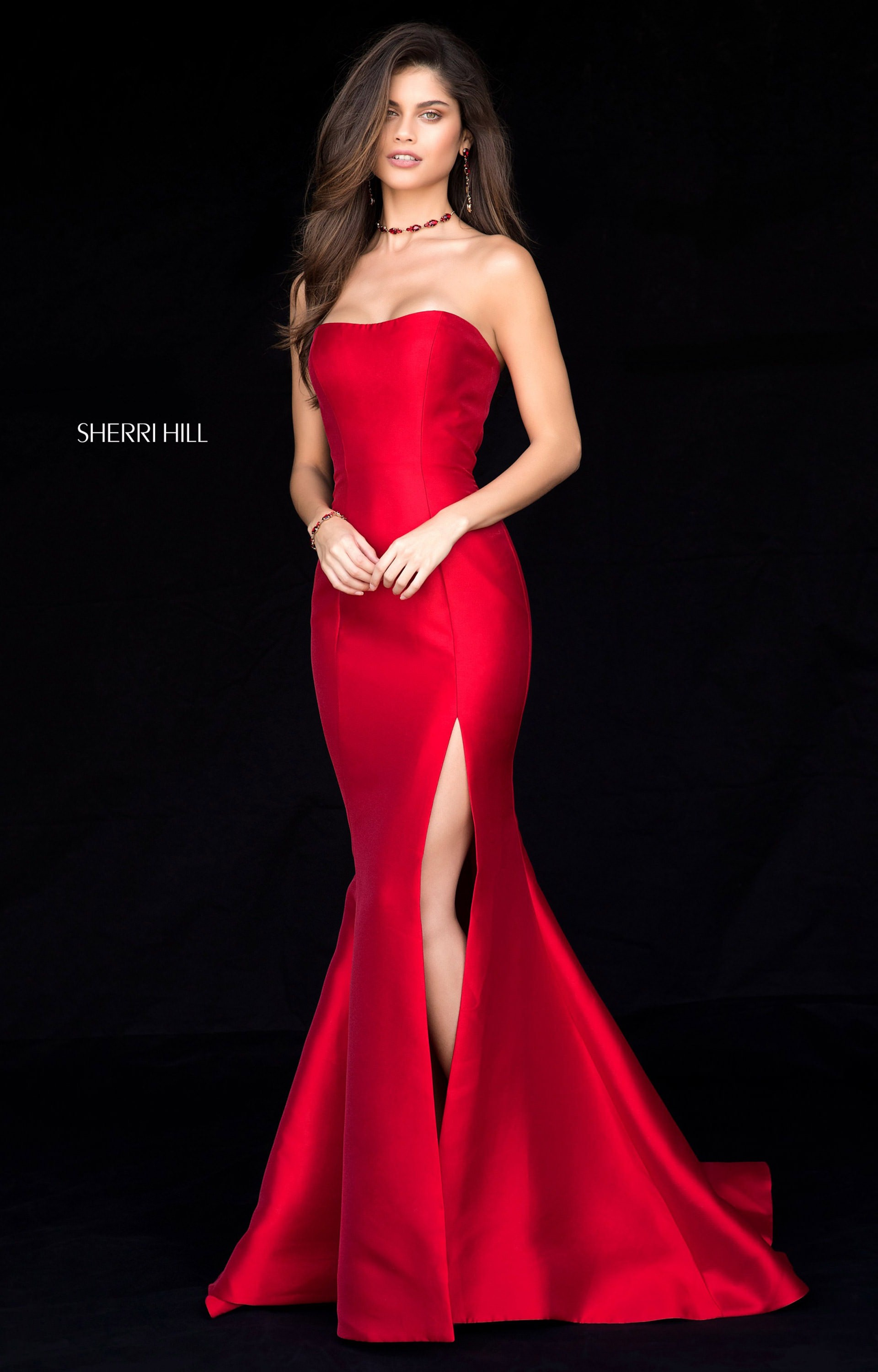 Sherri Hill 51671 - Long Fitted Mikado Prom Dress edd24ba86