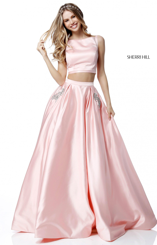 Sherri Hill 51673 - 2 Piece Satin Ball Gown Prom Dress