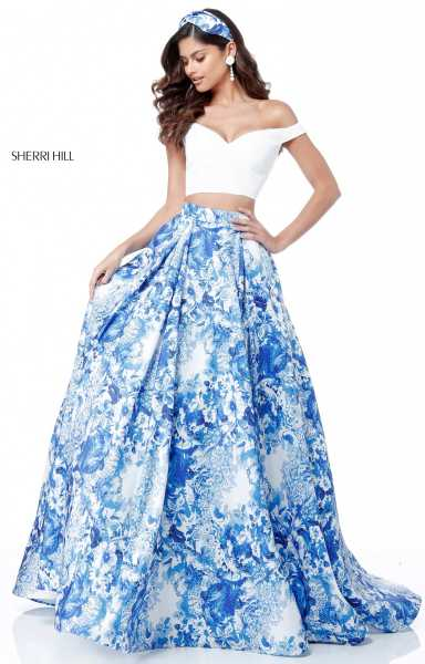 Sherri Hill 51680 Off The Shoulder and Sweetheart picture 1