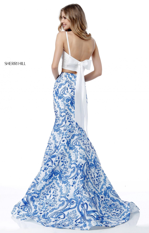 Sherri Hill 51681 - 2 Piece Printed Mermaid Prom Dress