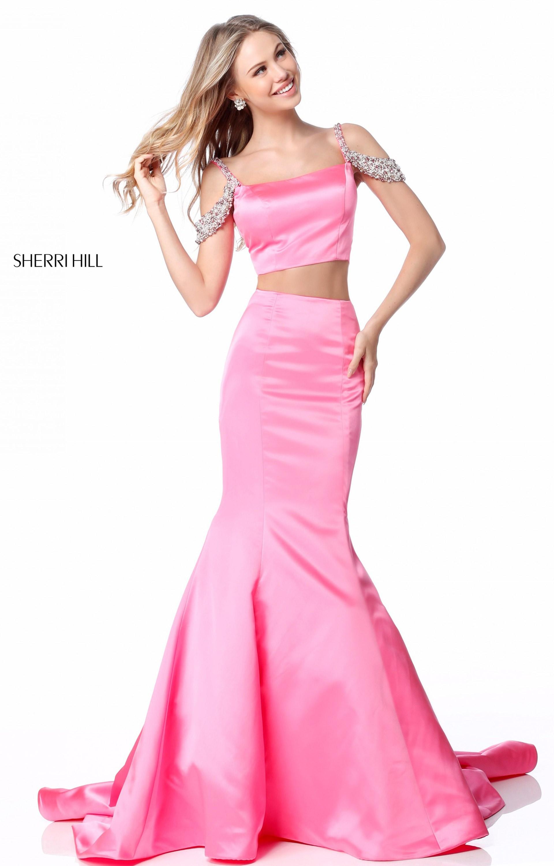 Sherri Hill 51713 Long Satin 2 Piece Mermaid Prom Dress