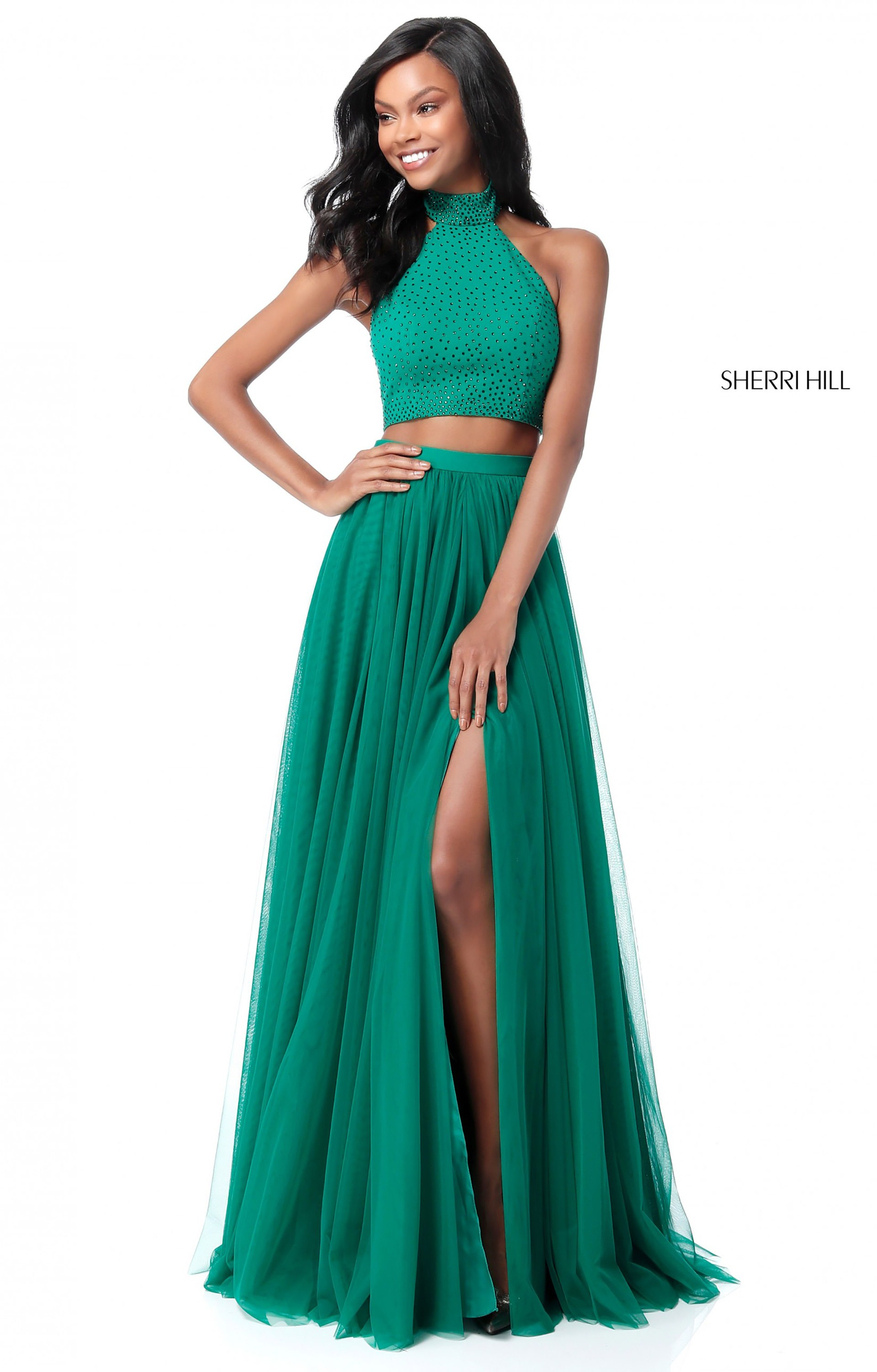 Sherri Hill 51721 - Long A-Line Tulle 2 Piece Prom Dress