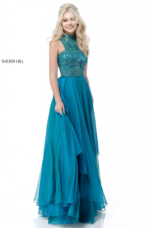 Sherri Hill 51722 - Long A-Line Chiffon Prom Dress