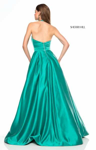 Sherri Hill 51729 Halter, Has Straps and V-Shape picture 1