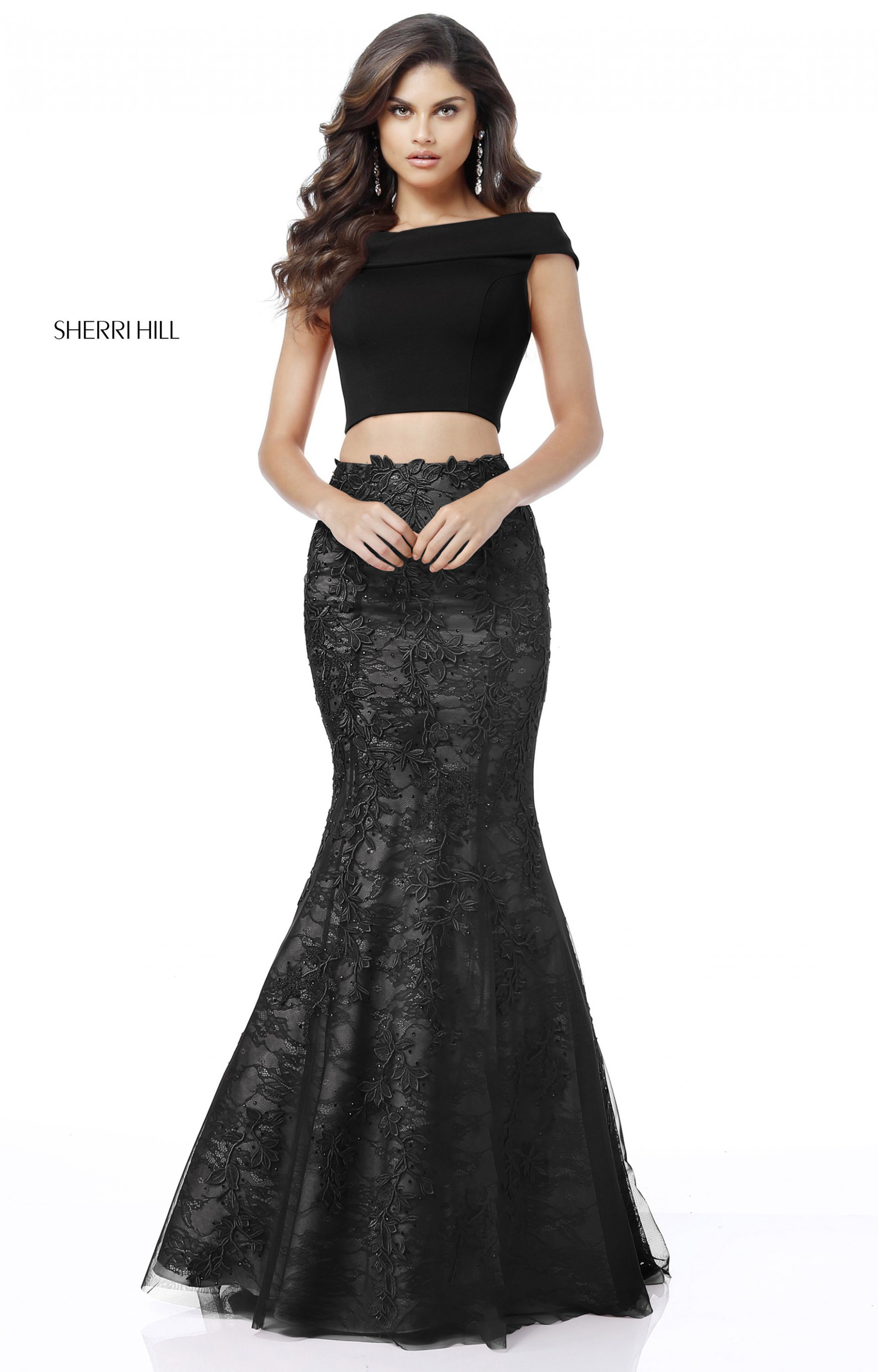 Sherri Hill 51730 - Two Piece Off the Shoulder Lace Prom Dress 3674fabf5