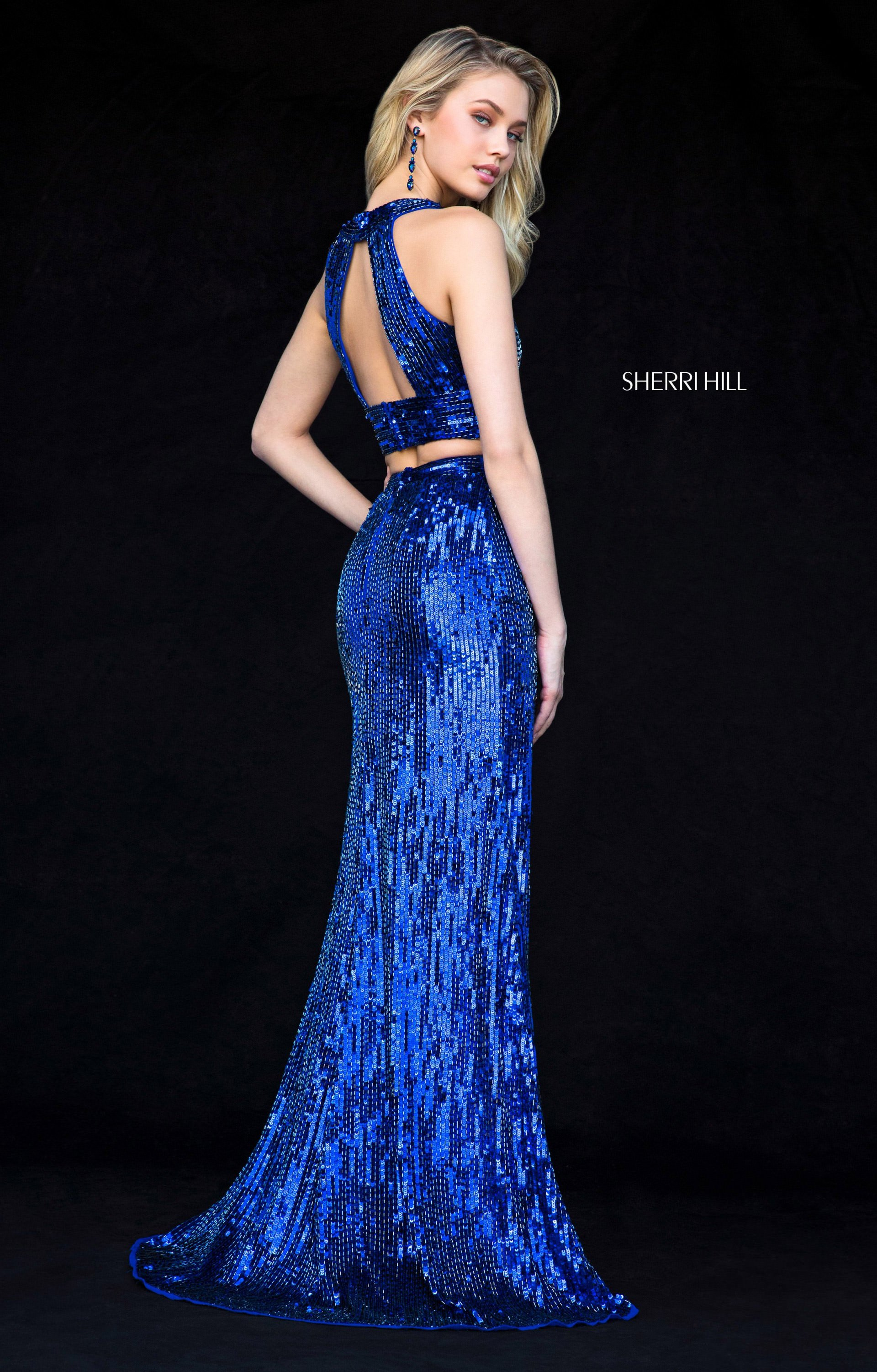 Sherri Hill 51756 Long Sequin 2 Piece Prom Dress