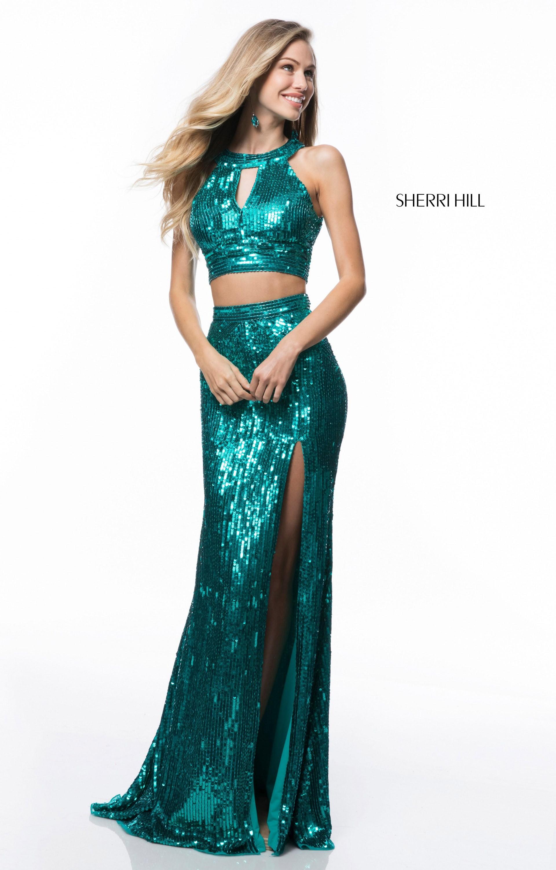 Sherri Hill 51756 Long Sequin 2 Piece Prom Dress
