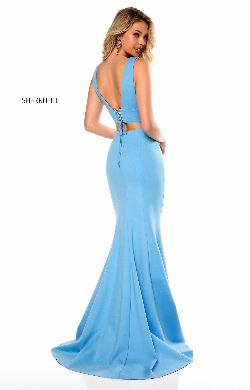 Sherri Hill 51775 - Long 2 Piece Neoprene V-Neck Prom Dress