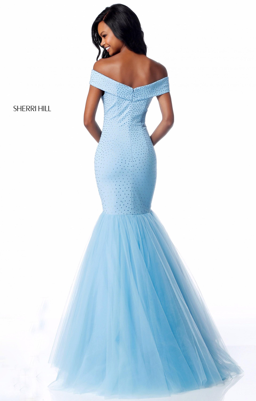 Sherri Hill 51778 - Long Off the Shoulder Mermaid Prom Dress