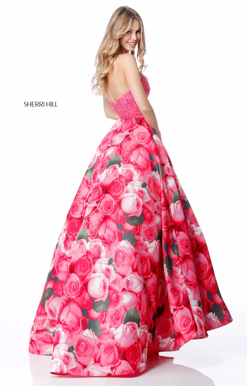 Sherri hill 51794 beaded top floral print ball gown prom dress sherri hill 51794 halter picture 1 mightylinksfo