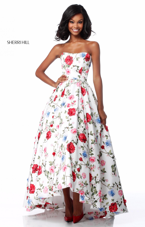 Sherri Hill 51795 - Sweetheart High Low Ball Gown Prom Dress