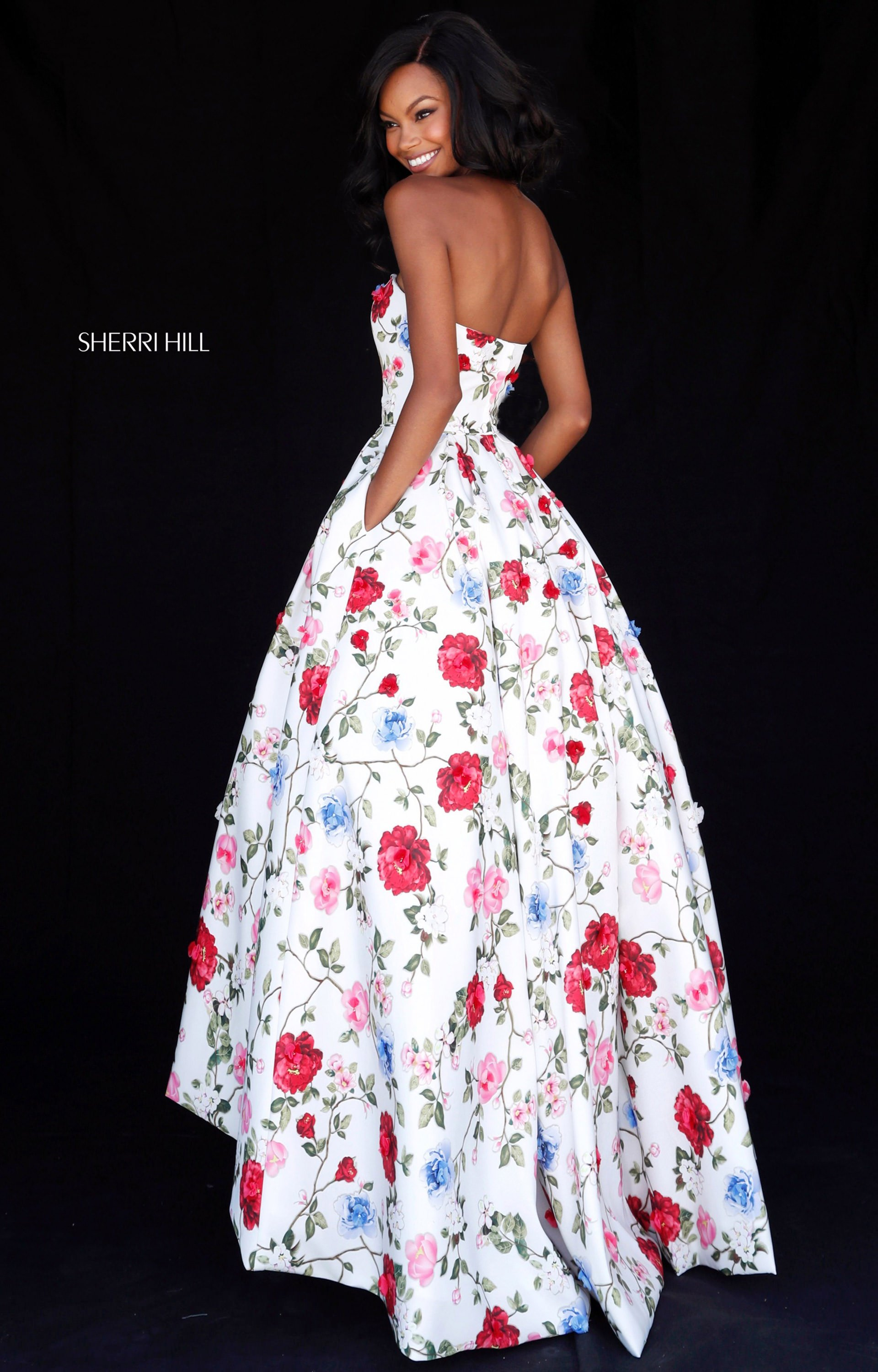 Sherri Hill 51795 - Sweetheart High Low Ball Gown Prom Dress