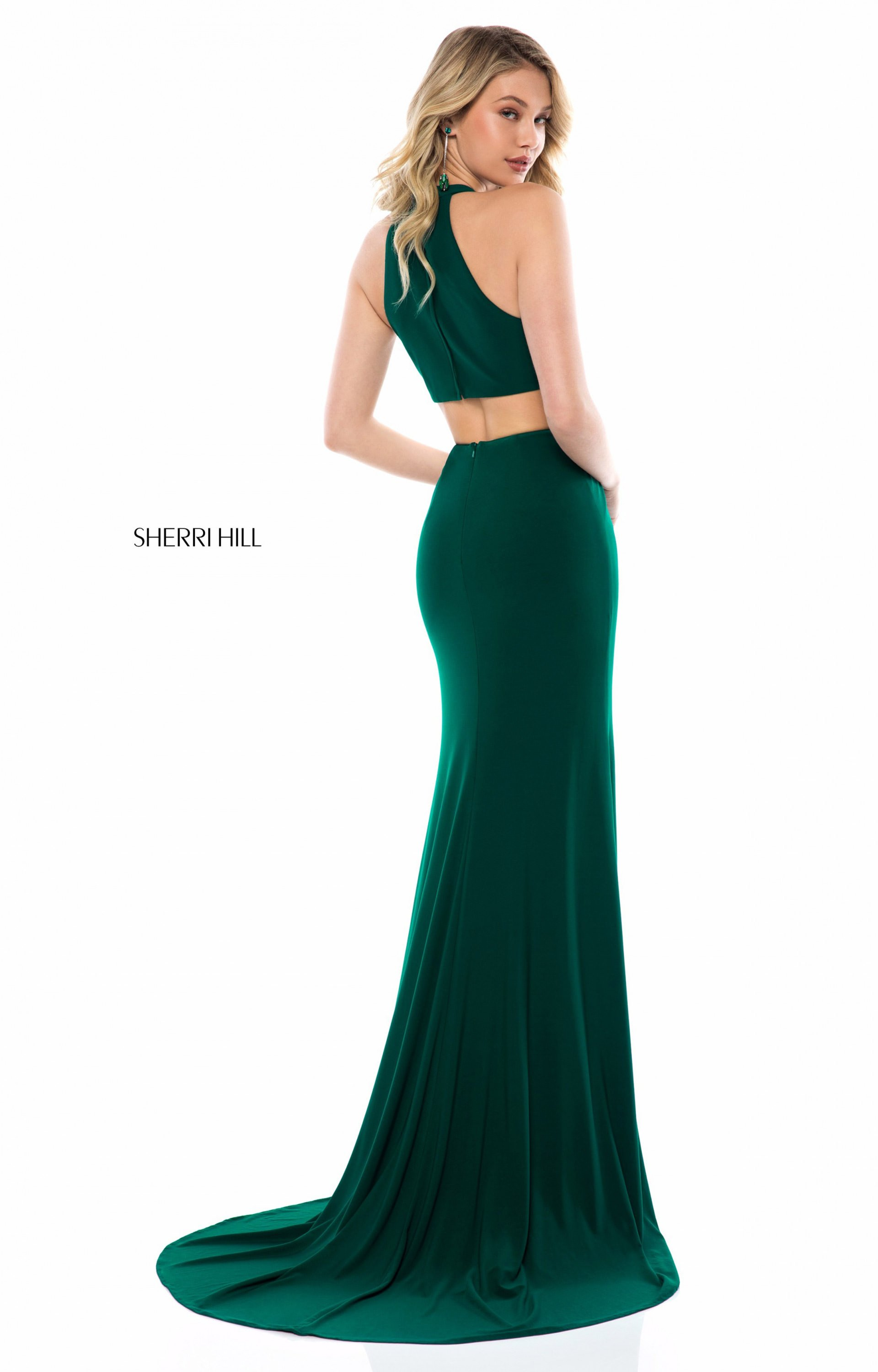 1128fe35ab Sherri Hill 51806 - Long Fitted Jersey V-Neck