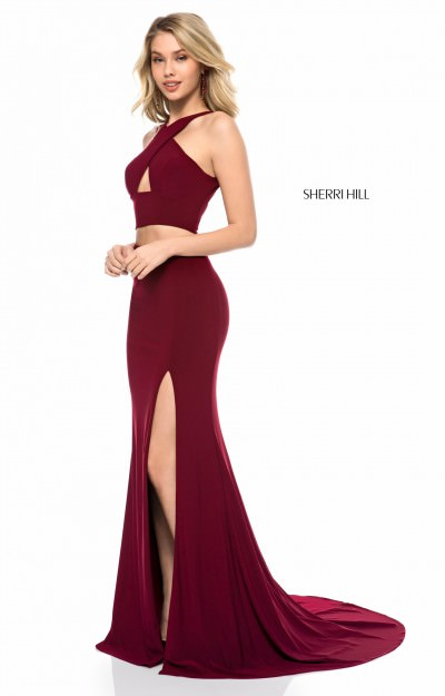 Teen Wearing Low-Cut Prom Dress