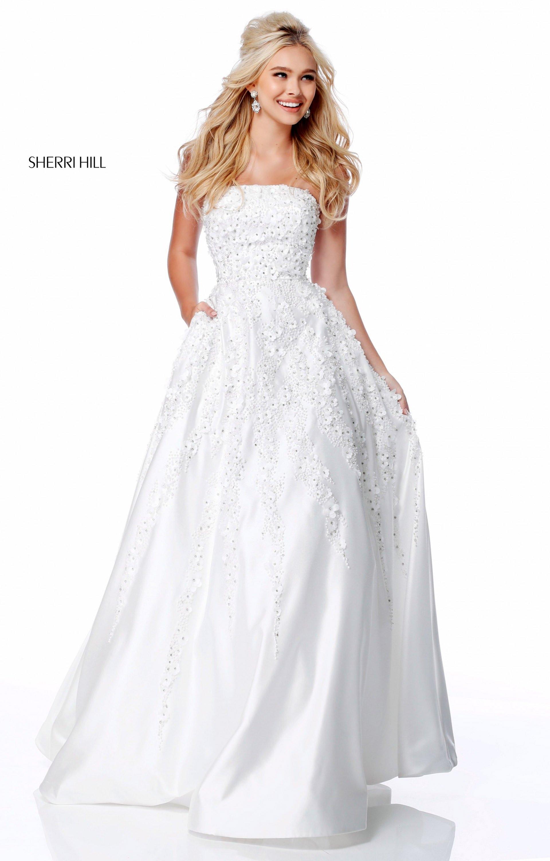 d192d96c304 Sherri Hill 51817 - Strapless Satin Ball Gown