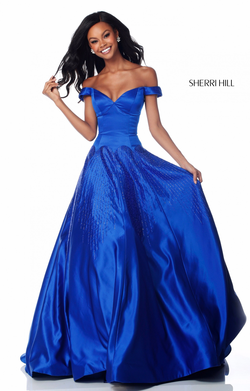 346a616f69 Sherri Hill 51825 - Sweetheart Off the Shoulder A-line Prom Dress