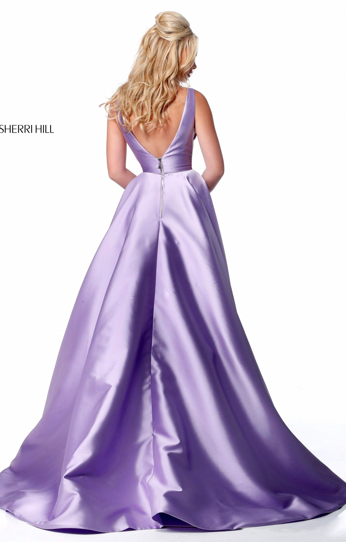 Sherri Hill 51856 Long A Line Mikado Ball Gown Prom Dress