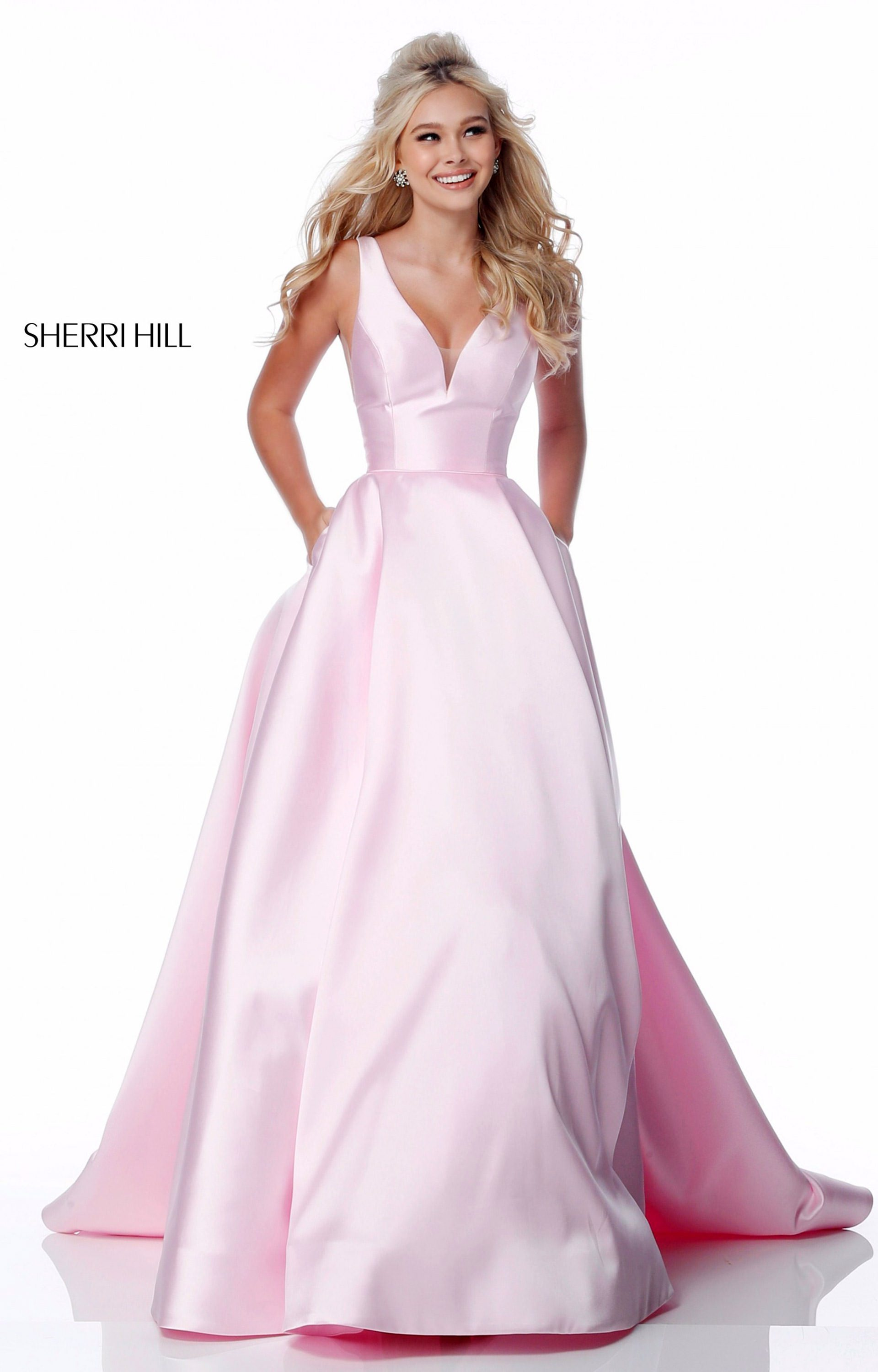 Sherri Hill 51856 - Long A-Line Mikado Ball Gown Prom Dress