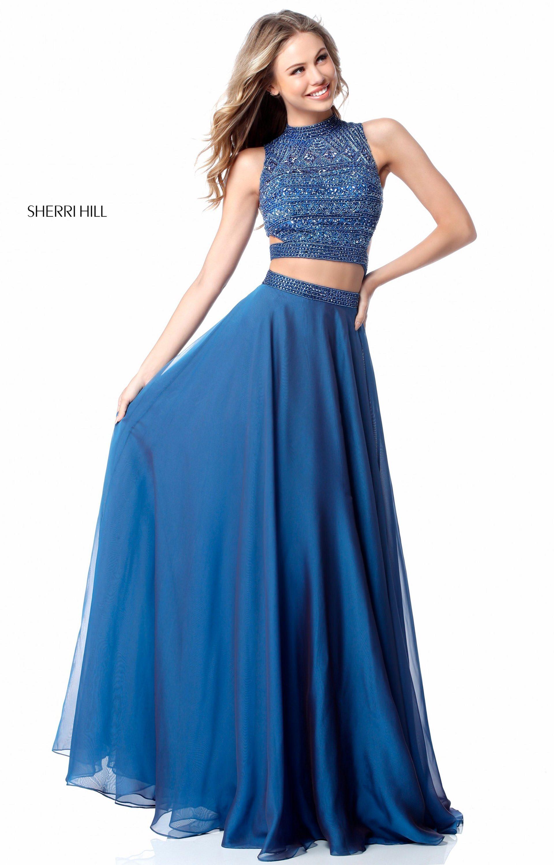 Sherri Hill 51871 - 2 Piece Long A-Line Chiffon Prom Dress