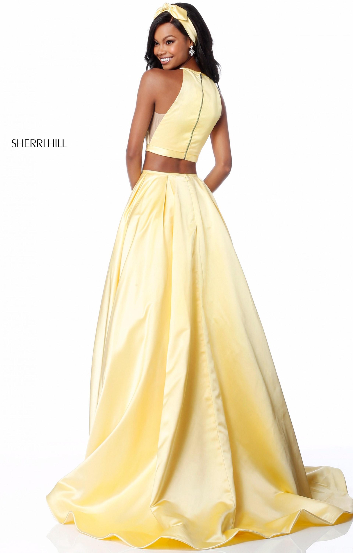 Sherri Hill 51883 2 Piece Halter Neckline Ball Gown Prom