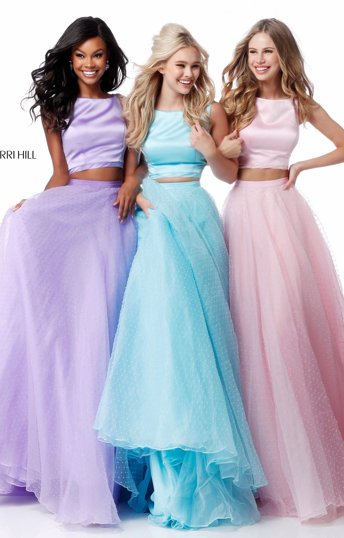 Sherri Hill 51895 - 2 Piece A-Line Swiss Dot Organza Prom Dress